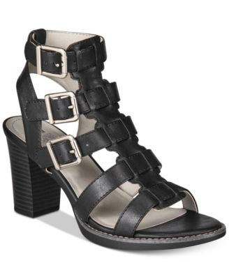 Image of White Mountain Gemmy Block-Heel Dress Sandals
