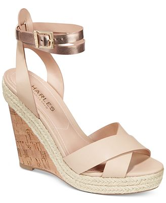 CHARLES by Charles David Brit Platform Wedge Sandals