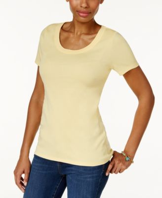 Image of Charter Club Cotton Scoop-Neck T-Shirt, Only at Macy's