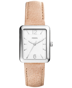 Fossil Women's Atwater Light Brown Leather Strap Watch 28x34