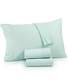 CLOSEOUT! Whim by Martha Stewart  Collection Vintage Wash 4-Pc. Full Sheet Set, 200 Thread Count All Cotton, Created for Macy's