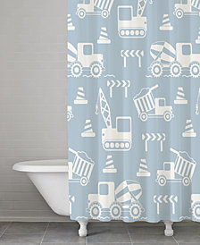 Kassatex Kassa Kids Cotton Construction Shower Curtain