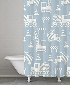 Cassadecor 100% Cotton Builders Shower Curtain