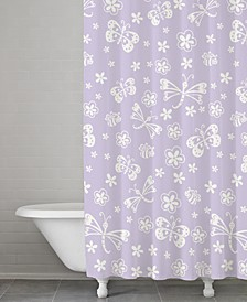 100% Cotton Mariposa Shower Curtain