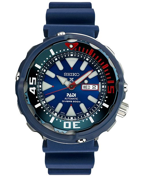 ... Seiko LIMITED EDITION Men s Automatic Prospex Diver PADI Special  Edition Blue Silicone Strap Watch 50mm SRPA83 ... 0a2d086a71