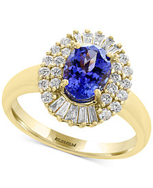 Tanzanite Royalé by EFFY® Tanzanite (1-1/8 ct. t.w.) and Diamond (1/2 ct. t.w.) Ring in 14k Gold