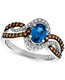 Le Vian Chocolatier® Blueberry Sapphire™ (3/4 ct. t.w.) and Diamond (1/2 ct. t.w.) Ring in 14k White Gold