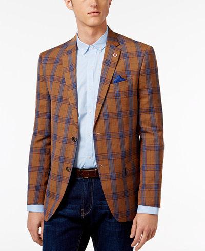 Ben Sherman Men's Slim-Fit Plaid Sport Coat - Blazers & Sport ...