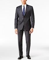 c6542b8e8e38 Lauren Ralph Lauren Men s Classic-Fit Gray Windowpane UltraFlex Suit