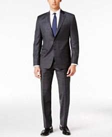 Lauren Ralph Lauren Men's Classic-Fit Gray Windowpane UltraFlex Suit