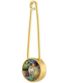 RACHEL Rachel Roy Gold-Tone Stone Inlay Safety Pin