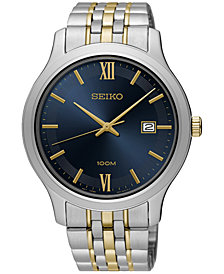 Seiko Men's Special Value Quartz Two-Tone Stainless Steel Bracelet Watch 41mm SUR229