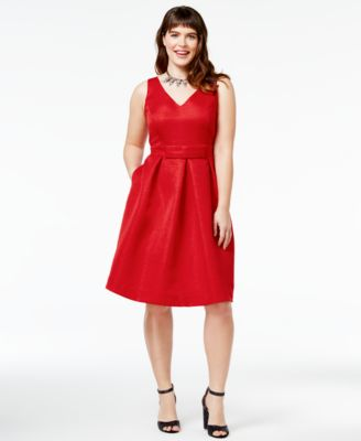 City Chic Trendy Plus Size Pocketed Fit & Flare Dress