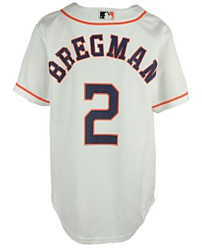 Majestic  Alex Bregman Houston Astros Player Replica CB Jersey, Big Boys (8-20)