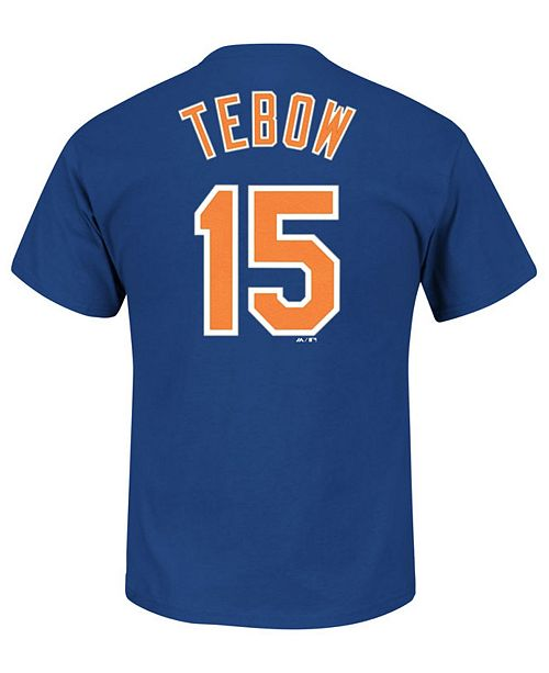 new concept b0fad 09e70 Majestic Men's Tim Tebow New York Mets Official Player T-Shirt