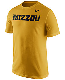 Nike Men's Missouri Tigers Cotton Wordmark T-Shirt