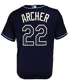 Majestic Men's Chris Archer Tampa Bay Rays Player Replica CB Jersey