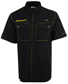 Columbia Men's Oregon Ducks Low Drag Off Shore Button Up Shirt