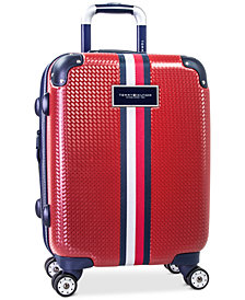 "CLOSEOUT! Tommy Hilfiger Basketweave Hardside 21"" Spinner Suitcase"