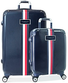 CLOSEOUT! Tommy Hilfiger Basketweave Hardside Spinner Luggage