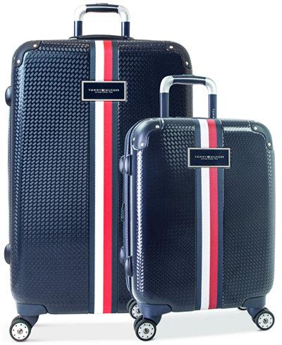 Tommy Hilfiger Basketweave Hardside Spinner Luggage