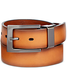 Alfani Men's Faux-Leather Cut-Edge Reversible Belt, Created for Macy's