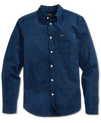 RVCA Men's Casey Cotton Shirt