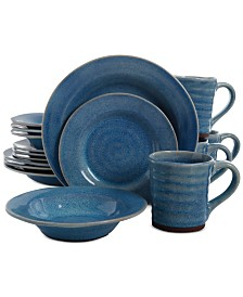 Gibson Elite Mariani Blue 16-Piece Dinnerware Set
