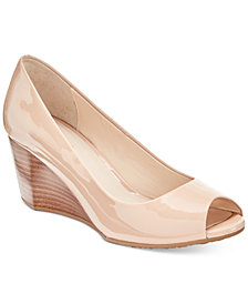 Cole Haan Sadie Peep-Toe Wedge Pumps