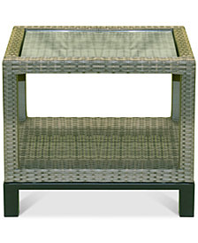 North Port Wicker Outdoor End Table, Created for Macy's