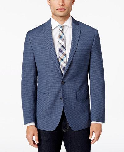 Ryan Seacrest Distinction™ Men's Slim-Fit Blue Mini-Check Sport ...