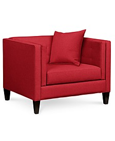 "Braylei 43"" Fabric Armchair, Created for Macy's"