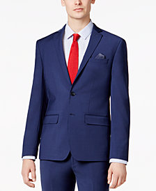 Bar III Men's Skinny Fit Stretch Wrinkle-Resistant Blue Suit Jacket, Created for Macy's
