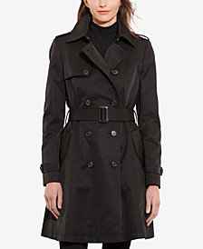 Lauren Ralph Lauren Petite Double-Breasted Skirted Trench Coat