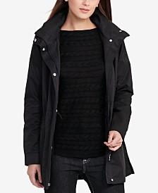 Lauren Ralph Lauren Petite Faux-Leather-Trim Anorak Jacket