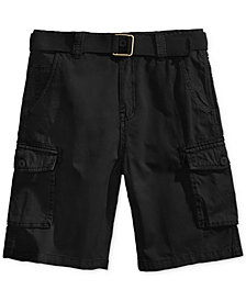 Ring of Fire Belted Cotton Cargo Shorts, Big Boys, Created for Macy's