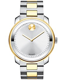 Movado Men's Swiss Bold Two-Tone Stainless Steel Bracelet Watch 42mm 3600431