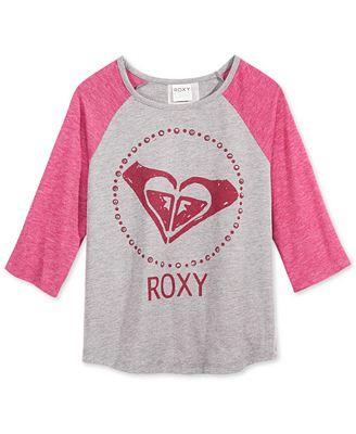 Roxy Graphic 3/4 Sleeve T-Shirt, Big Girls (7-16)