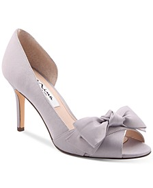 Forbes 2 Bow Peep-Toe D'Orsay Evening Pumps