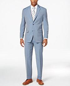 Sean John Men's Classic-Fit Light Blue Pinstripe Suit Separates