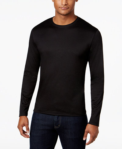 Alfani Men's Soft Touch Stretch Long-Sleeve T-Shirt, Created for Macy's