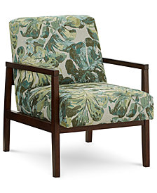 Nari Printed Fabric Accent Chair