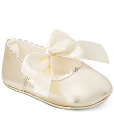 First Impressions Metallic Scalloped Ballet Flats, Baby Girls (0-4), Created for Macy's