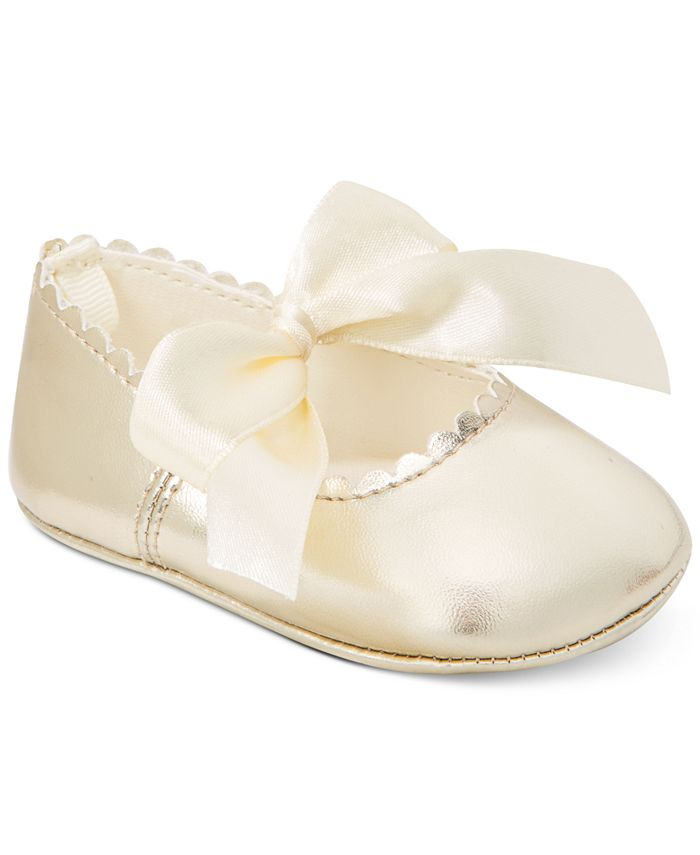 First Impressions - Metallic Scalloped Ballet Flats, Baby Girls (0-4)