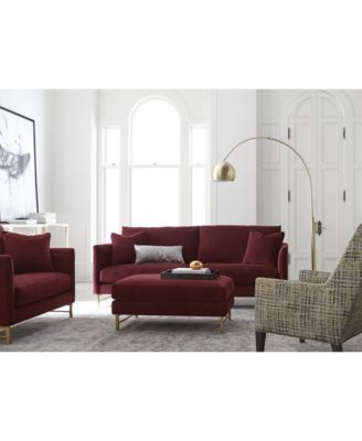 arvello velvet sofa collection