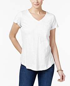 Petite Cotton T-Shirt, Created for Macy's