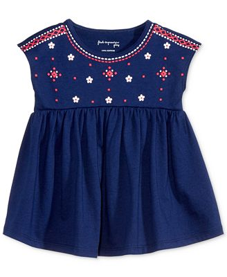 First Impressions Dolman-Sleeve Cotton Babydoll Tunic, Baby Girls (0-24 months), Only at Macy's
