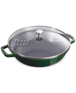 Staub Enameled Cast Iron 4.5-qt. Perfect Pan With Lid In Basil