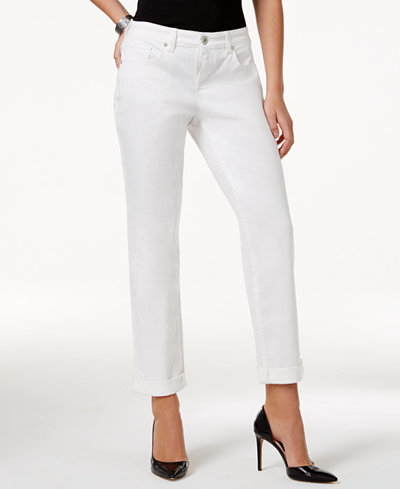 Style & Co Curvy-Fit Cuffed Boyfriend Jeans, Only at Macy's ...