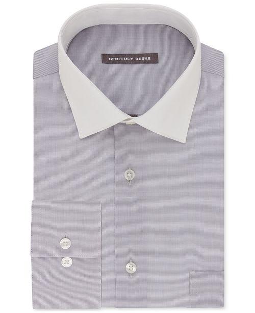 89cc86717 Geoffrey Beene Men s Classic-Fit Wrinkle Free Aloe Wash Dress Shirt ...